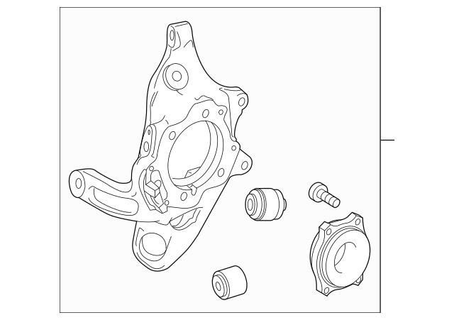 2015-2018 Mercedes-Benz Knuckle Assembly 205-350-02-41