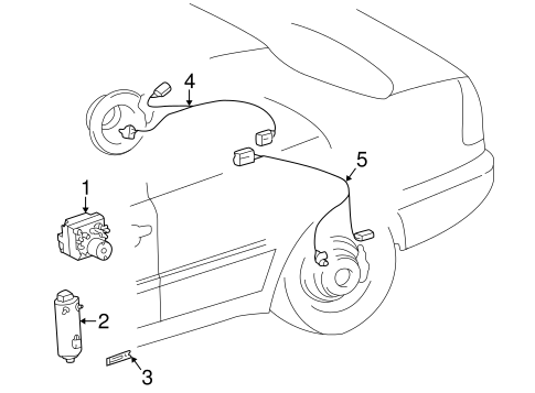 ANTI-LOCK BRAKES for 1996 Mercedes-Benz C220