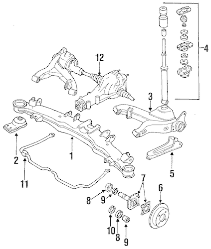 STABILIZER BAR & COMPONENTS for 1988 Nissan 300ZX