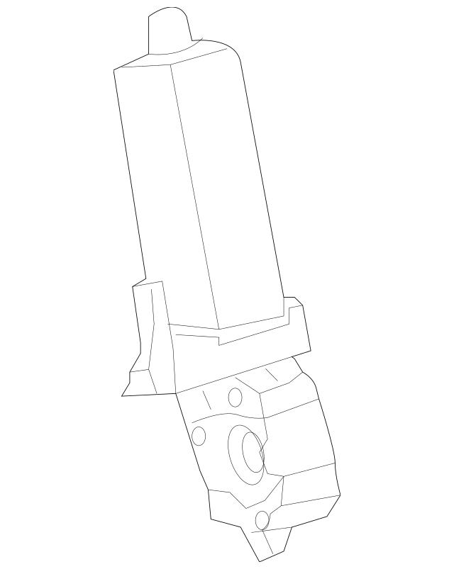 Genuine Mercedes-Benz Motor Assembly Shaft 204-460-08-25