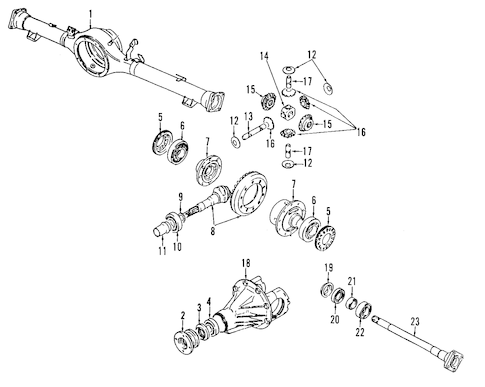 Rear Axle Parts for 2000 Chevrolet Tracker