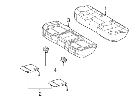 REAR SEAT COMPONENTS for 2013 Ford Taurus