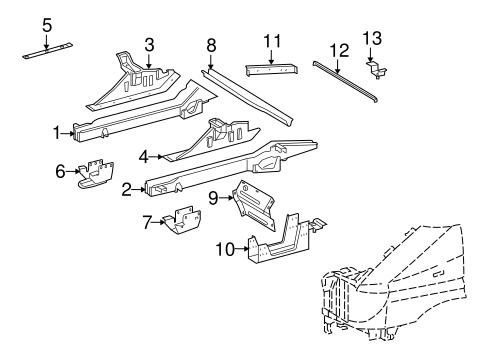 Structural Components & Rails for 2006 Dodge Sprinter 2500
