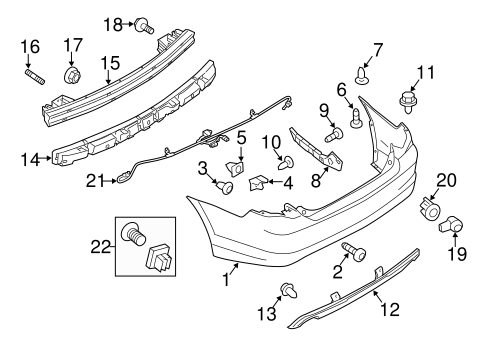 Ford Focus Bumper Diagram Mazda 3 Bumper Diagram Wiring