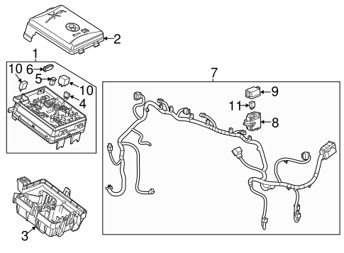 FUSE & RELAY 2015 Buick Encore OEM