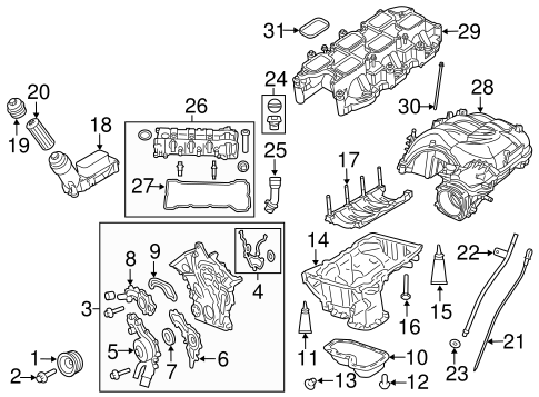 ENGINE PARTS for 2014 Ram 1500
