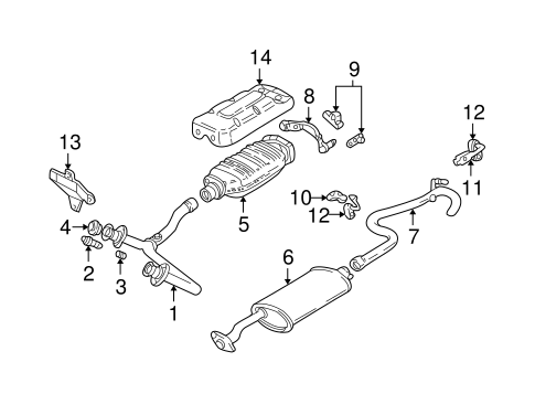 EXHAUST COMPONENTS for 1994 GMC Sonoma