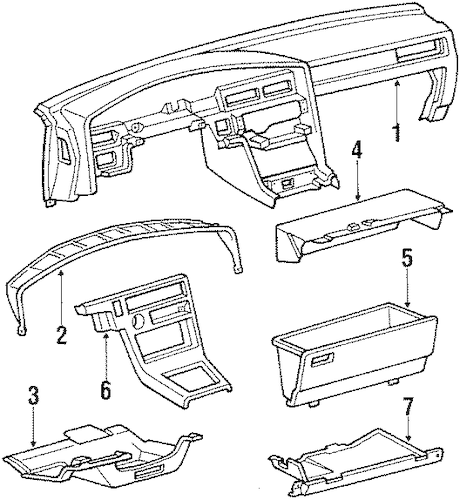 INSTRUMENT PANEL for 1987 Toyota Supra