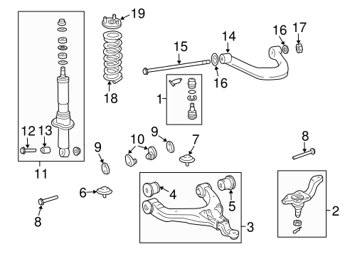 Genuine OEM Suspension Components Parts for 1995 Toyota