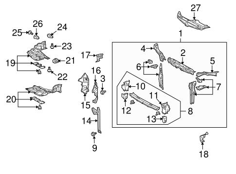 Genuine OEM Radiator Support Parts for 2007 Toyota Prius