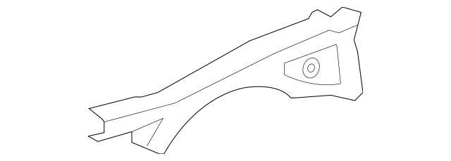 2008-2011 Honda ACCORD SEDAN Member, R Front Wheelhouse