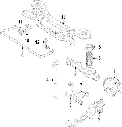REAR SUSPENSION for 2013 Mazda 5