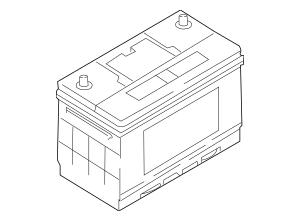 Genuine OEM Battery Part# 37110-34000U Fits 2003-2009 Kia