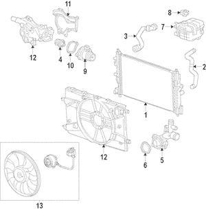 2011-2014 Chevrolet Cruze 1.4L Turbo Upper Radiator