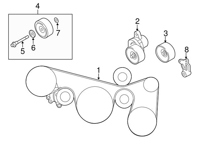 2011 Nissan Altima Serpentine Belt Diagram