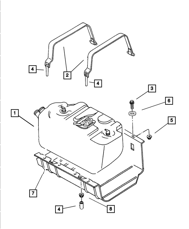 OEM NEW MOPAR Genuine gas Tank Skid Plate 1997-2006 Jeep