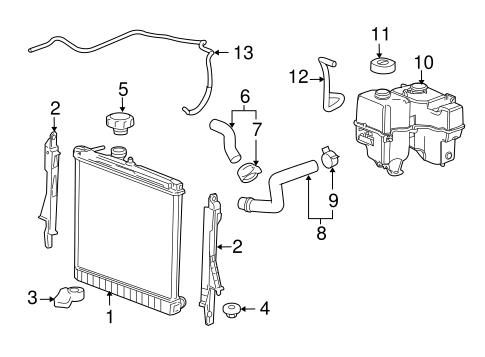 OEM Radiator & Components for 2009 Hummer H3T