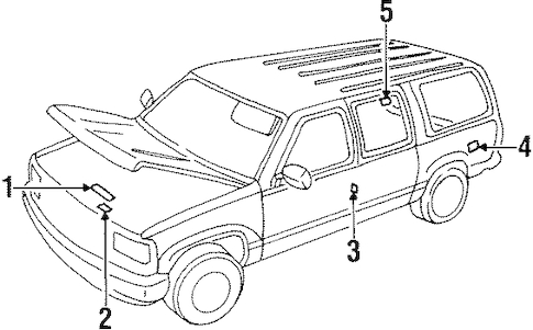 LABELS 1999 Chevrolet Tahoe OEM