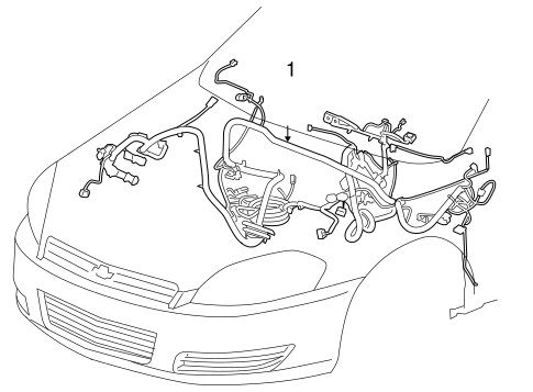 OEM WIRING HARNESS for 2009 Chevrolet Impala