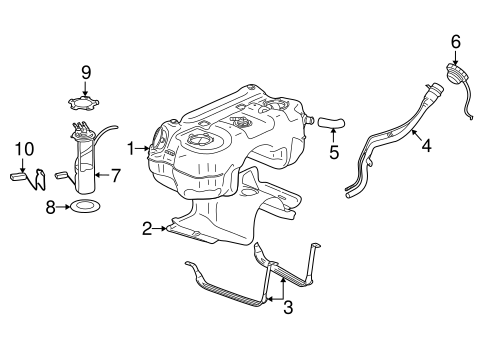 FUEL SYSTEM COMPONENTS for 2007 Saturn Vue