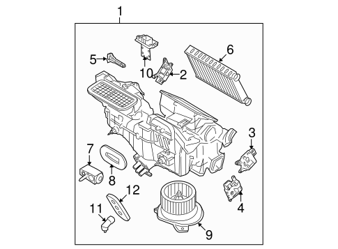 Evaporator & Heater Components for 2009 Ford Focus