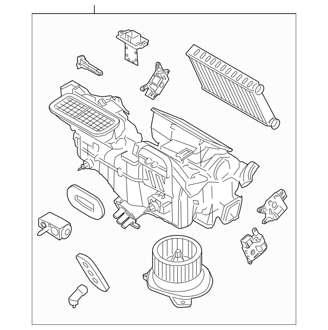 2008-2011 Ford Focus Evaporator Assembly AS4Z-19B555-C