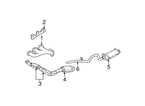 Exhaust Components for 2003 Ford Explorer Sport Trac