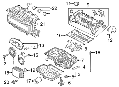 Audi A3 Engine Parts Diagram