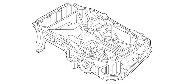 2016-2018 Audi A3 Sportback e-tron Oil Pan 04E-103-601-AC