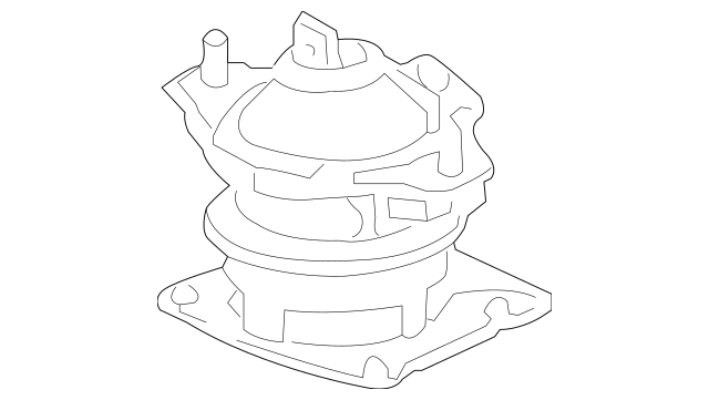 Genuine 2006-2007 Honda Rubber Assembly, Front Engine