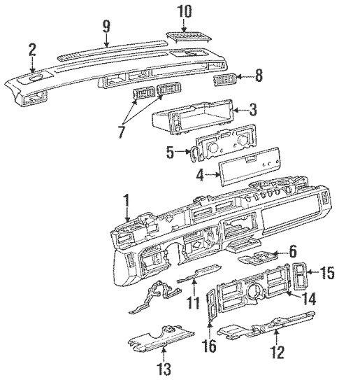 OEM Instrument Panel for 1990 Cadillac DeVille
