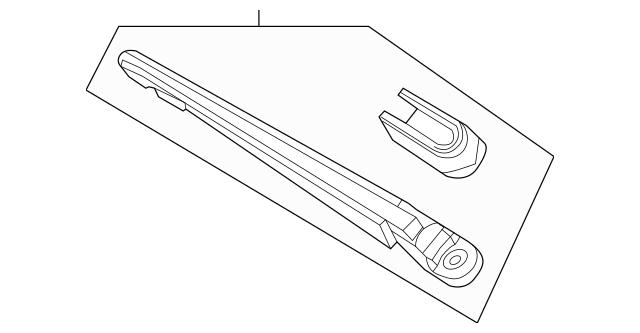 2007-2017 Acura MDX 5-DOOR Arm, Rear Wiper 76720-STX-A01