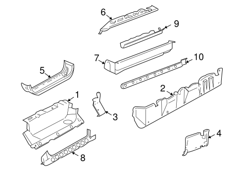 ROCKER PANEL Parts for 1999 GMC Savana 3500