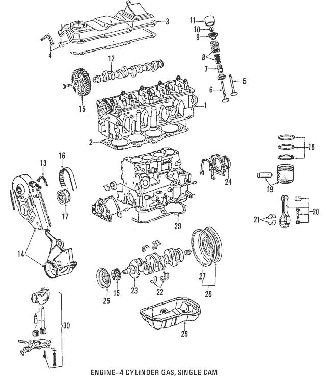 1993-1999 Volkswagen Upper Timing Cover 037-109-107-B