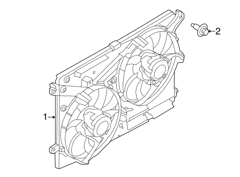 COOLING FAN for 2015 Ford Fusion