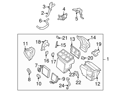 Evaporator & Heater Components for 2009 Nissan Altima