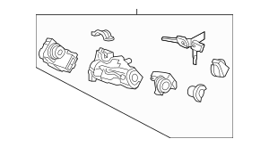 2009-2012 Acura RL SEDAN Lock Assembly, Steering 06351-SJA