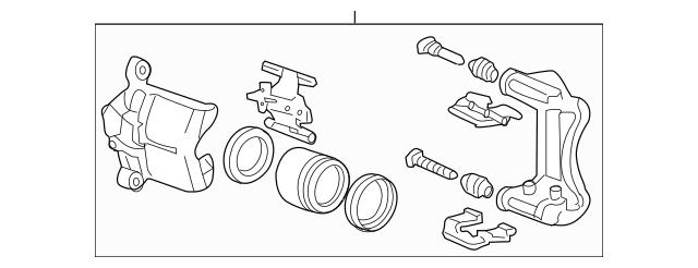 Genuine 2003-2012 Honda Caliper Sub-Assembly, R Front (RMD
