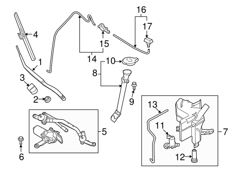WIPER & WASHER COMPONENTS for 2009 Nissan Murano