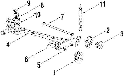 OEM 1986 Chevrolet Celebrity Rear Brakes Parts