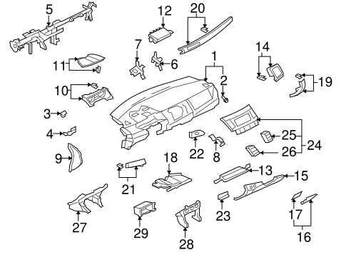 Instrument Panel for 2009 Mitsubishi Lancer
