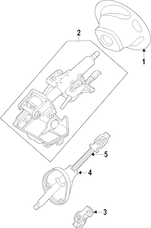 Service manual [Steering Column Removal 2008 Mercury