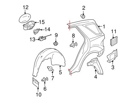 Quarter Panel & Components for 2010 Mercedes-Benz ML 350