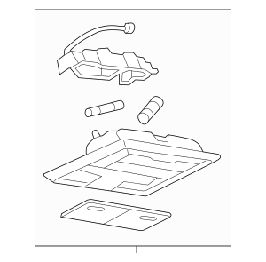 Genuine OEM 2005-2007 Ford Overhead Console 5G1Z-54519A70