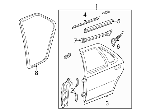 OEM DOOR & COMPONENTS for 2003 Oldsmobile Alero