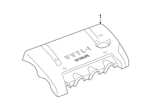 Genuine OEM Engine Appearance Cover Parts for 2003 Toyota