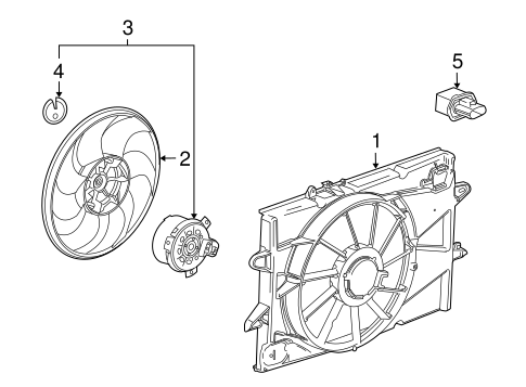 COOLING FAN Parts for 2014 GMC Terrain