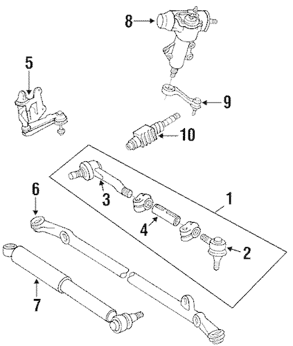 STEERING GEAR & LINKAGE for 1993 Toyota Pickup