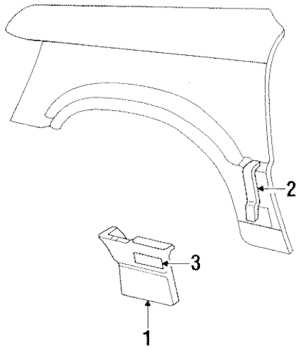 Lower Cladding Clip for 1997 Jeep Grand Cherokee|55294782