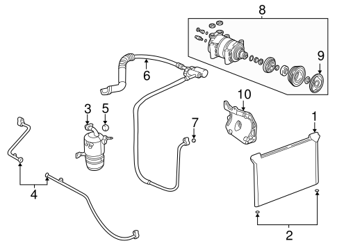 Condenser, Compressor & Lines for 2001 Chevrolet Tahoe